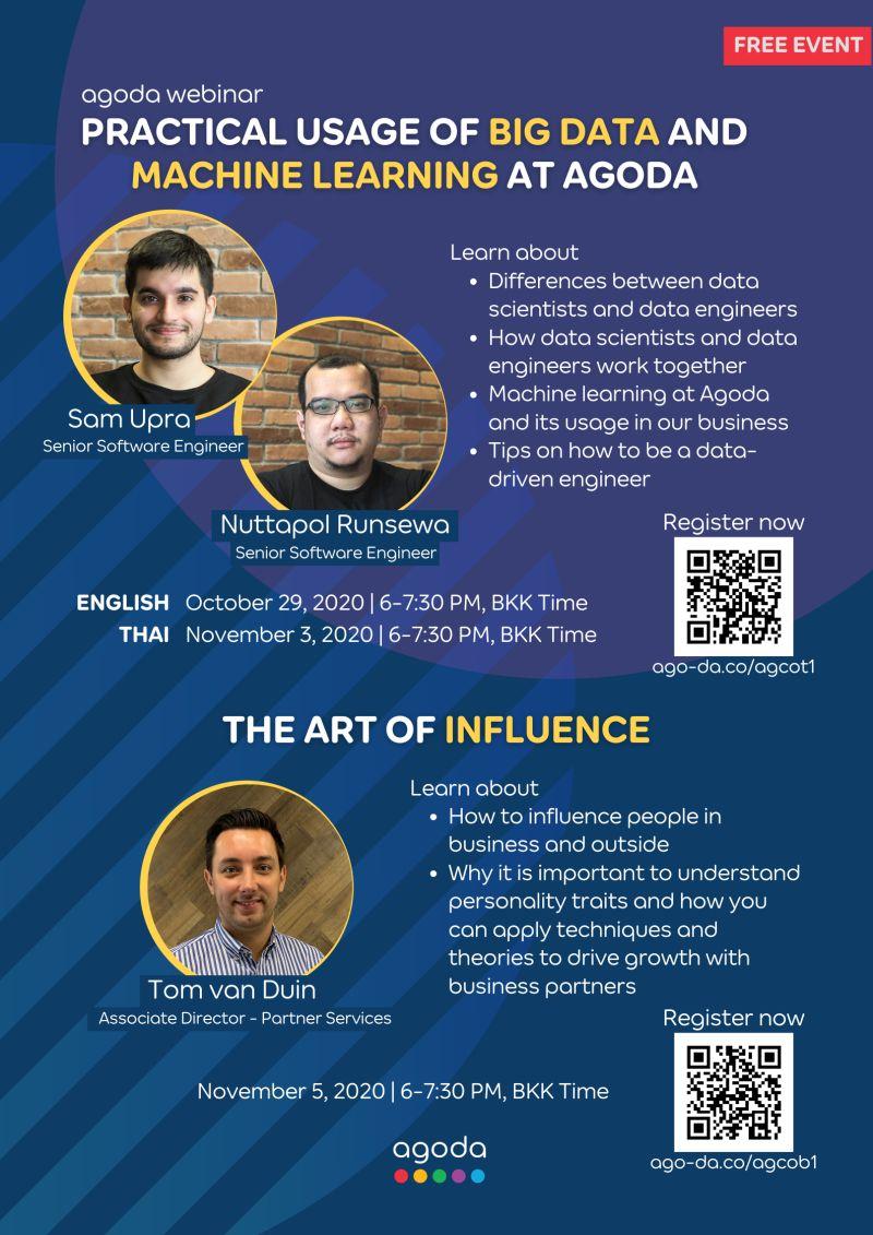 November 5, 2020: Agoda webinar/ The art of Influence
