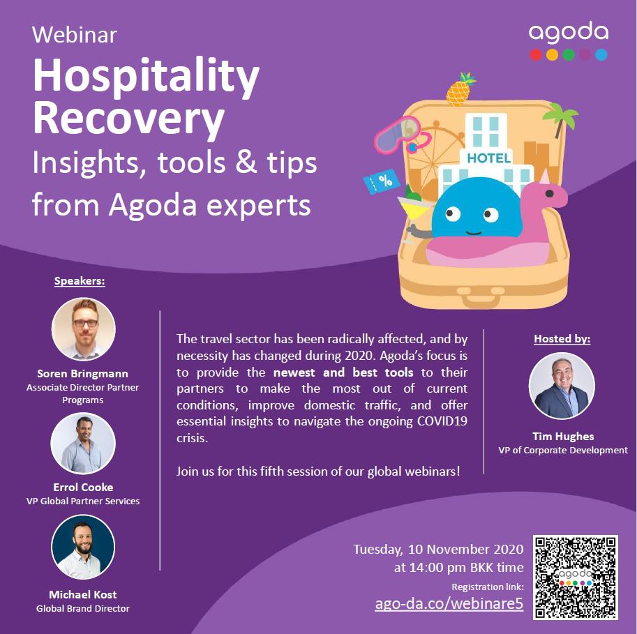 November 10, 2020: Agoda webinar / Insights, tools &tips from Agoda Experts