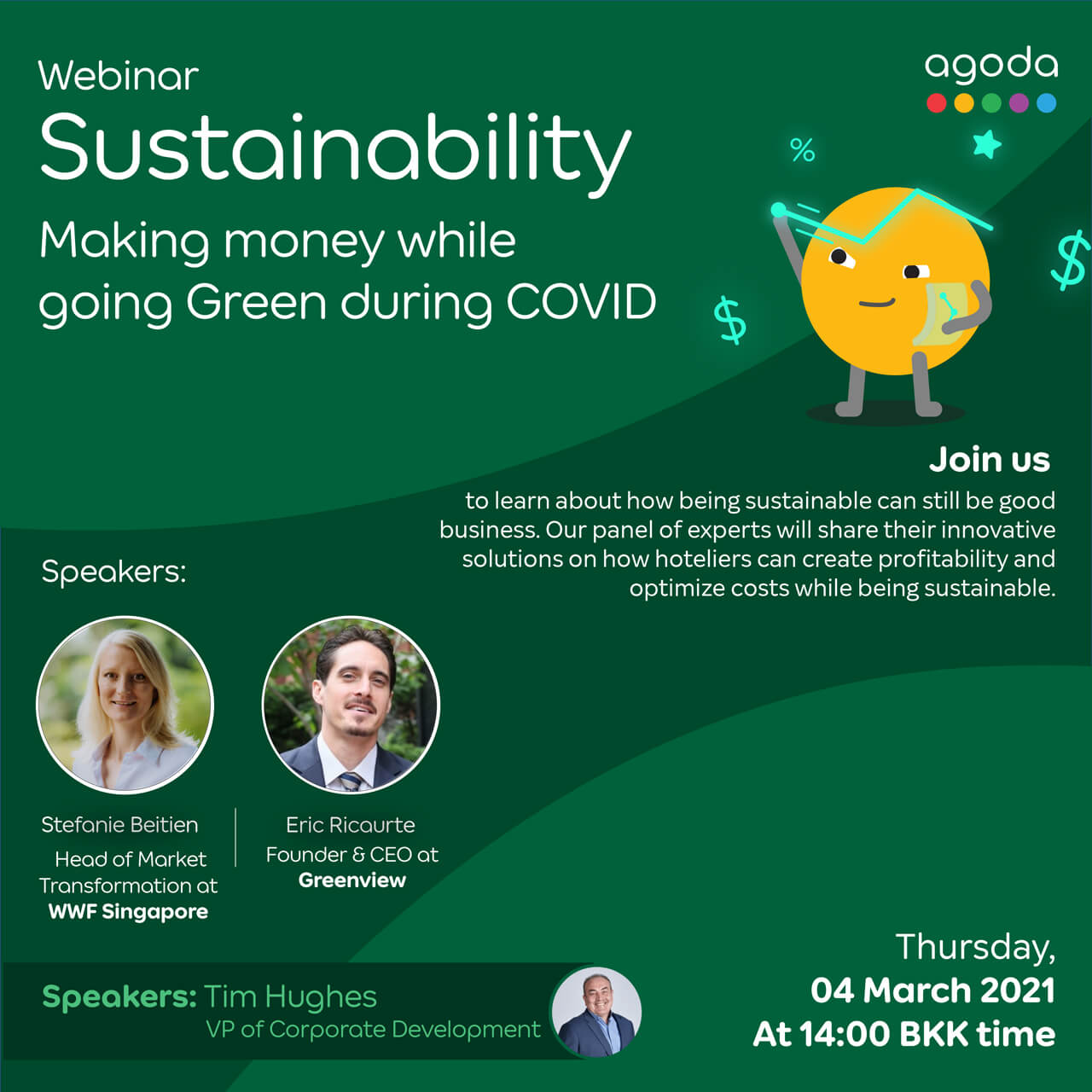 March 4th, Making money while going Green during COVID